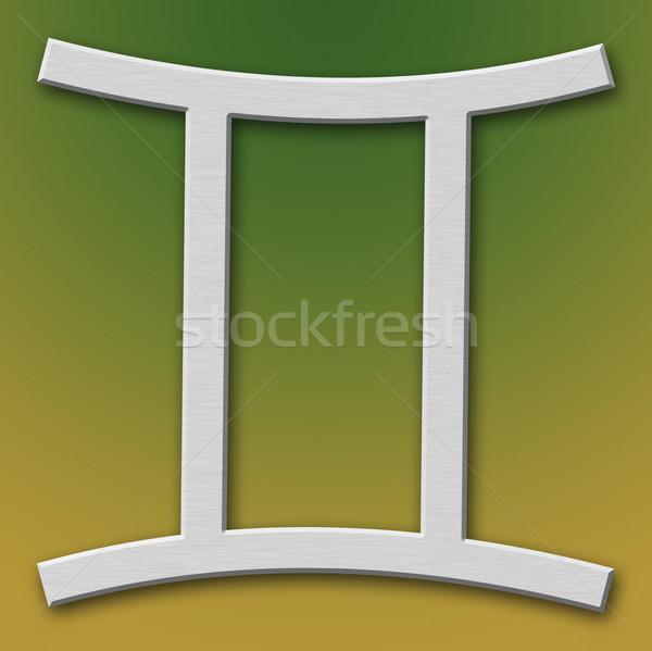 Gemini Aluminum Symbol Stock photo © broker