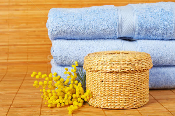 Banho produtos de beleza bambu raso Foto stock © broker