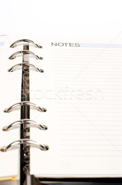 Gündem notlar kelime yazılı beyaz Stok fotoğraf © broker