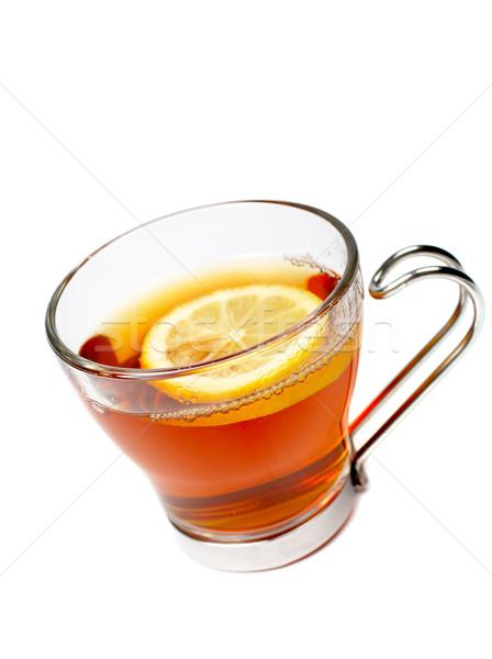 стекла Кубок чай лимона один ломтик Сток-фото © broker