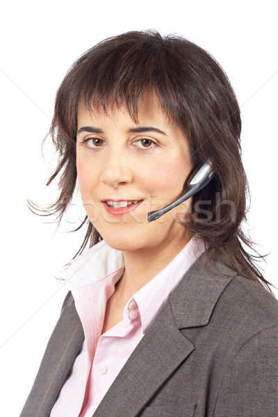Smiling customer support girl Stock photo © broker
