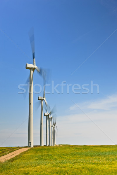 Photo stock: Vent · énergie · ferme · vert · domaine