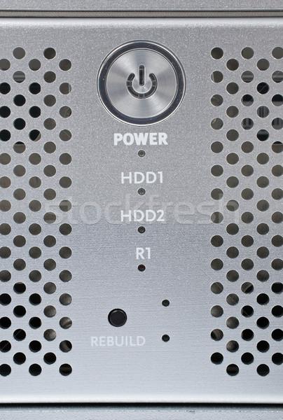 Foto stock: Isolado · branco · servidor · informação · limpar
