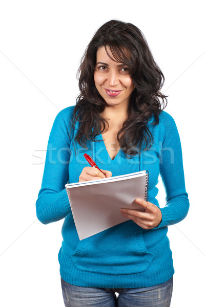 Young student woman writing Stock photo © broker