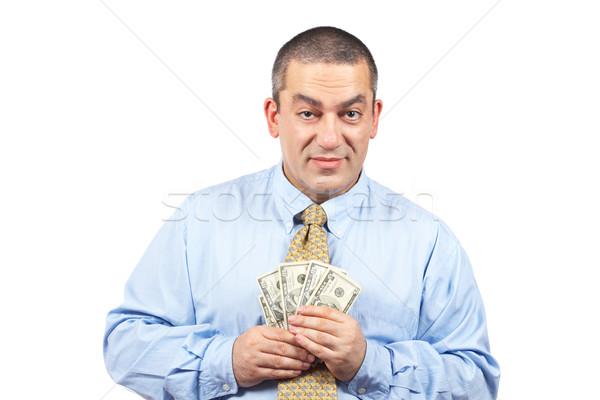 Fan geld zakenman tonen focus Stockfoto © broker