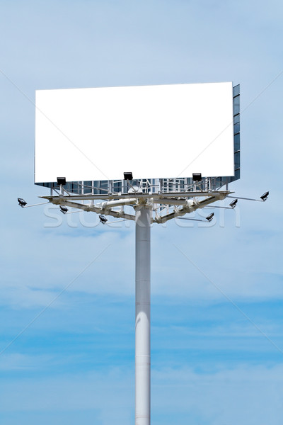 Blank billboard on cloudy sky Stock photo © broker