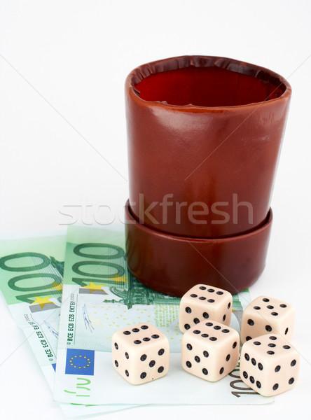 革 お金 白 ビジネス カジノ サイコロ ストックフォト © broker