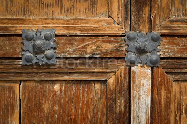 Antique wooden door Stock photo © broker
