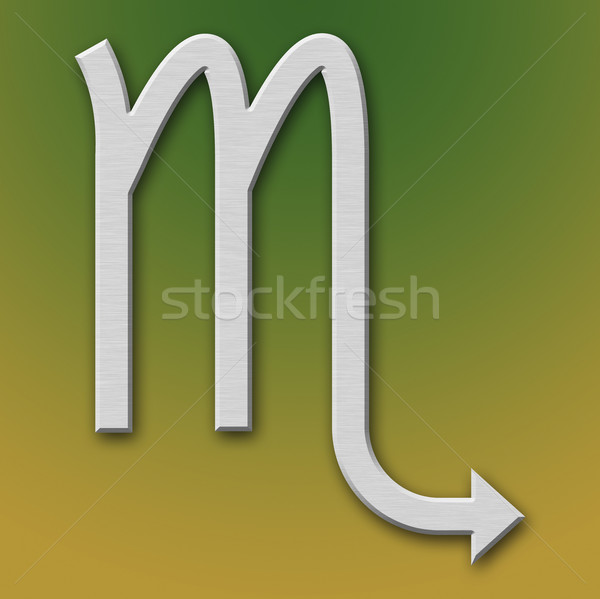 Scorpio Aluminum Symbol Stock photo © broker