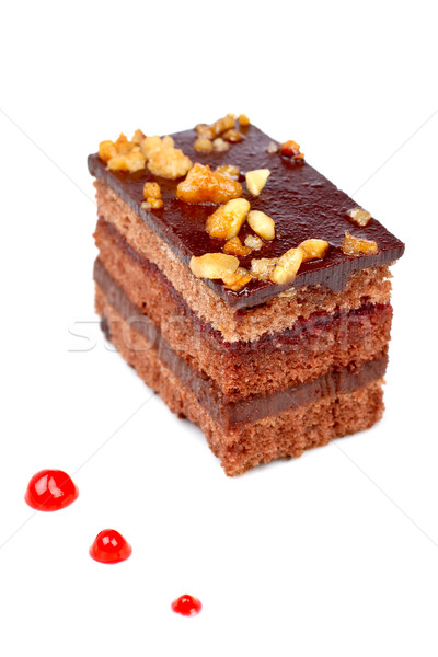 Delicious chocolate cake Stock photo © broker