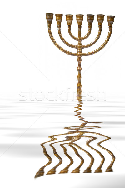 Menorah reflected on water Stock photo © broker