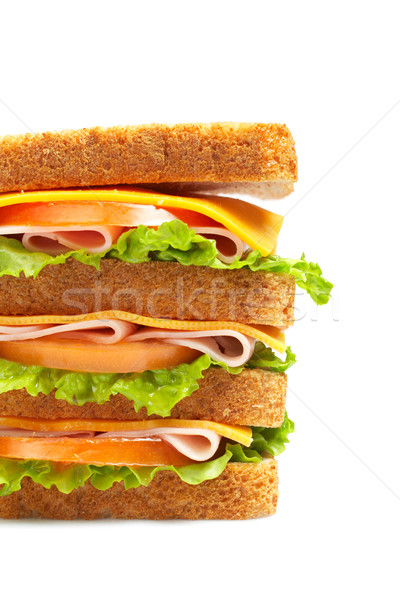 Healthy ham big sandwich Stock photo © broker