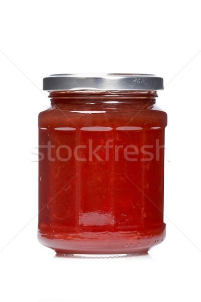 Strawberry jam glass jar Stock photo © broker