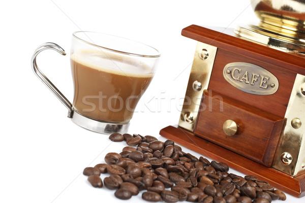 Copo café pote feijões vintage Foto stock © broker