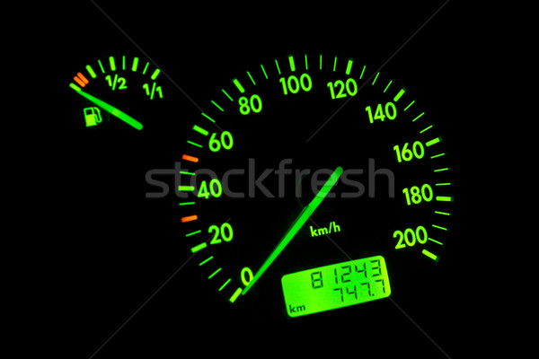 Green neon speedometer Stock photo © broker
