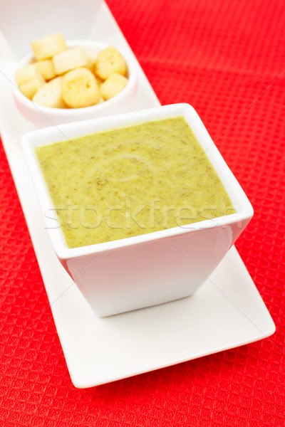 шпинат хлеб красный мелкий обеда Сток-фото © broker