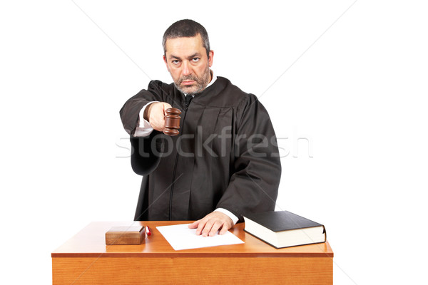 Judge reading a sentence Stock photo © broker