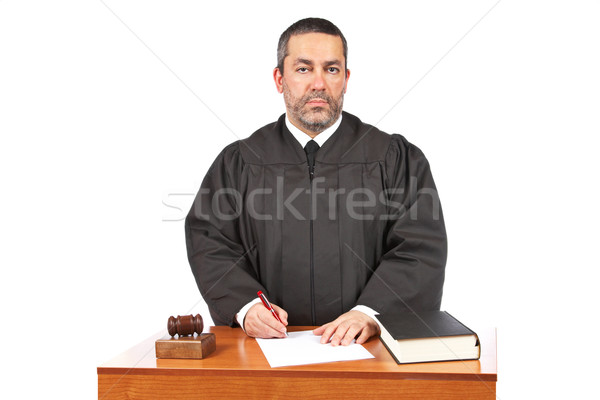 Stock photo: Sign to blank court order