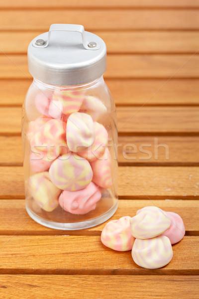 Pink marshmallows Stock photo © broker