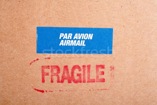 Fragile on cardboard box,  and sticker Stock photo © broker