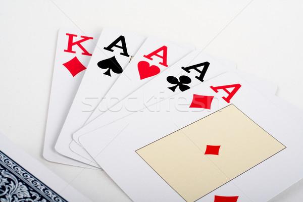 Aces poker Stock photo © broker