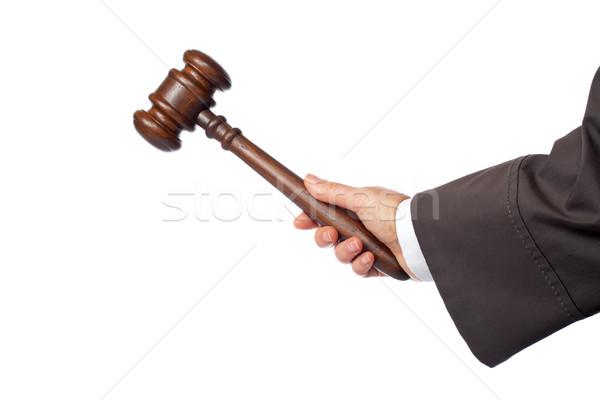 Judge announce the verdict Stock photo © broker
