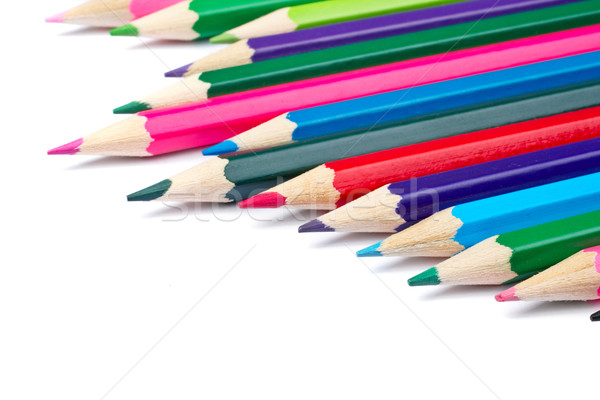Assortment of coloured pencils Stock photo © broker