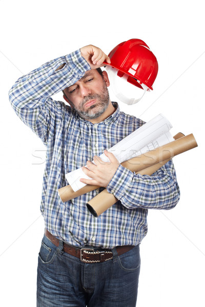 Exhausted construction worker Stock photo © broker