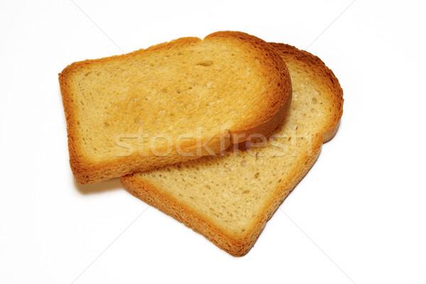 2 スライス 焼いた パン 孤立した 白 ストックフォト © broker