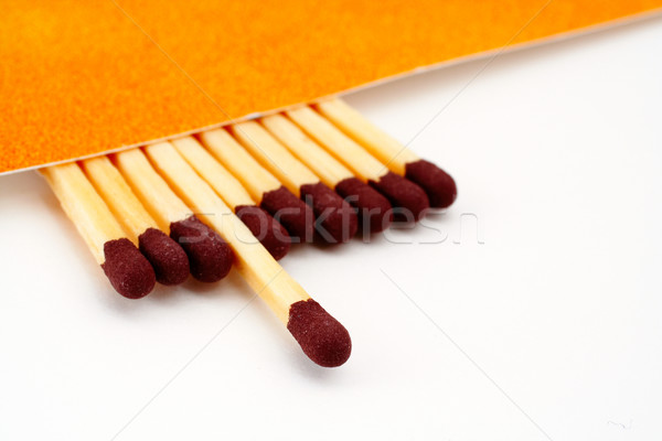 One match stick spent among match sticks Stock photo © broker