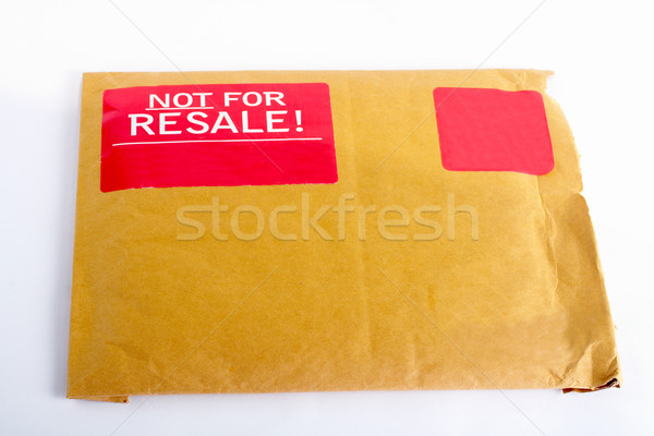 Envelope with red sticker: Not for resale Stock photo © broker