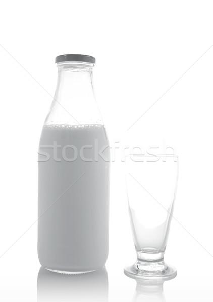 Glass and bottle of fresh milk Stock photo © broker
