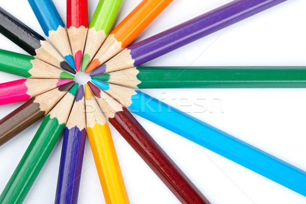 école crayons assortiment soft ombre Photo stock © broker