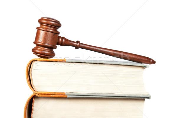 Holz Hammer Recht Pfund Gericht isoliert Stock foto © broker