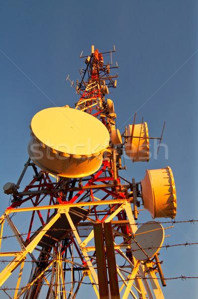 Telecomunications antennas Stock photo © broker