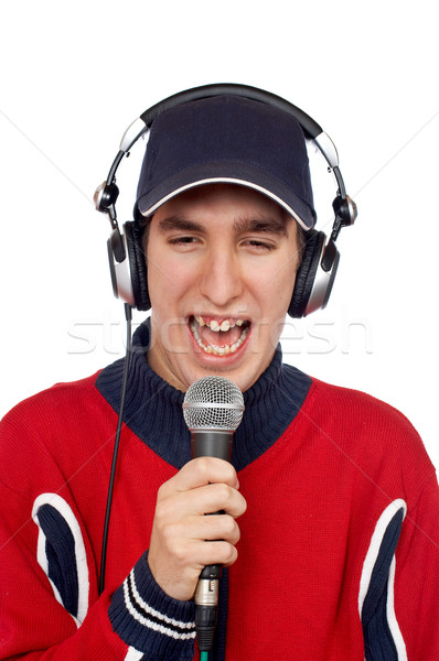 Disc jockey singing Stock photo © broker