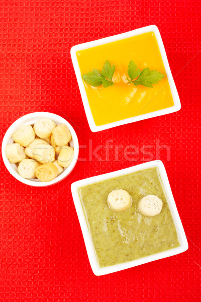 Spinach and carrots puree Stock photo © broker