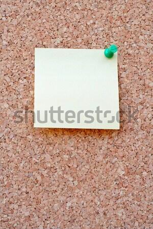 Yellow postit on a corkboard Stock photo © broker