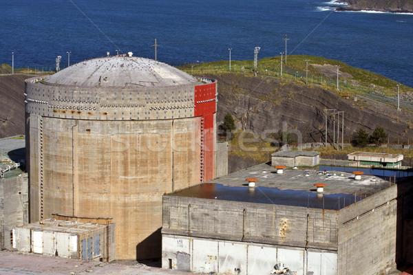 Terkedilmiş nükleer inşaat üzücü sanayi Stok fotoğraf © broker