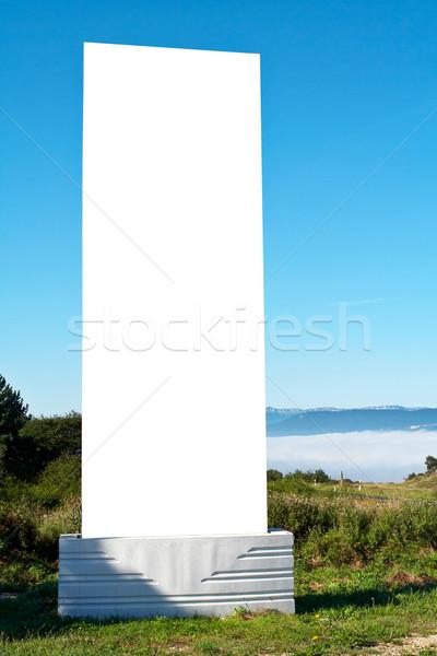 Blank billboard on blue sky Stock photo © broker