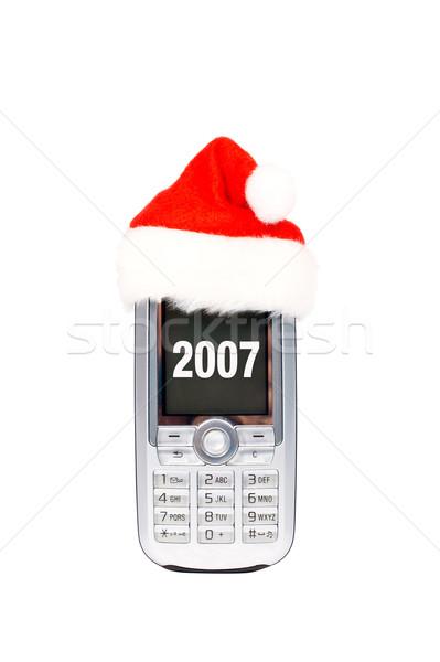 Happy new year mobile phone Stock photo © broker