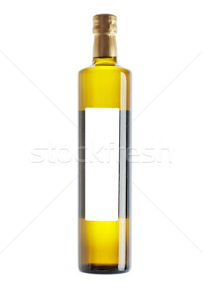 Olívaolaj üveg címke izolált fehér egészség Stock fotó © broker