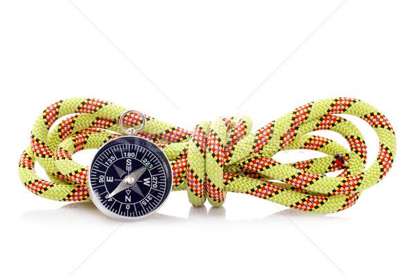 Iránytű kötél csomó biztonság utazás séta Stock fotó © broker