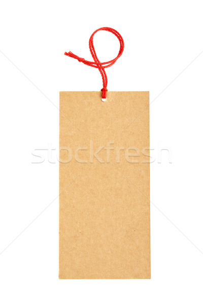 Stock photo: Black price tag
