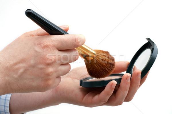 Cosmetic Powder and brush Stock photo © broker