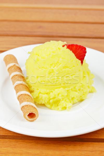 Vanilla ice cream Stock photo © broker