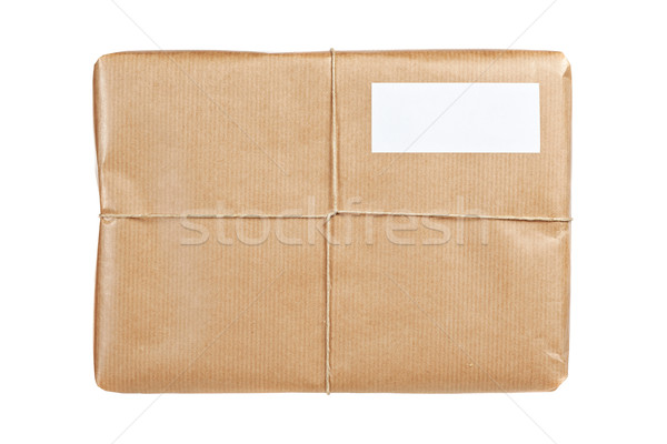 Brown package with blank label Stock photo © broker