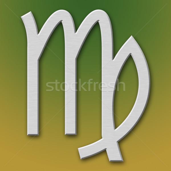 Virgo Aluminum Symbol  Stock photo © broker