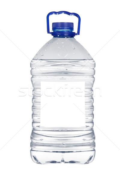 üveg ásványvíz cseppek izolált fehér víz Stock fotó © broker
