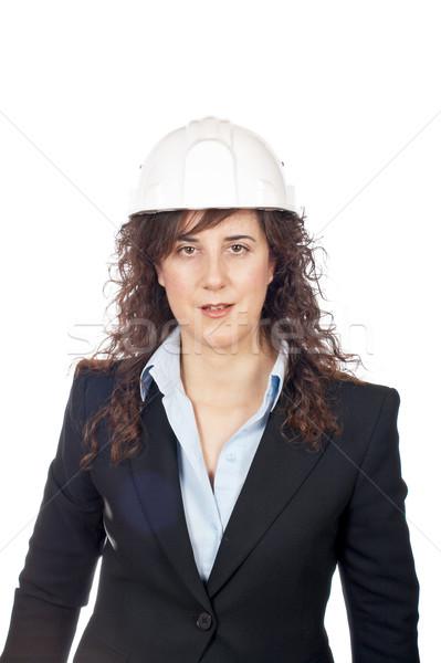 Serious female architect Stock photo © broker